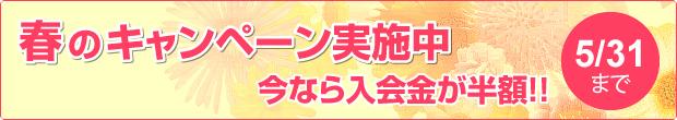 春のキャンペーン実施中 今なら入会金が半額!!